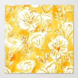 CALI POP Yellow California Poppies Canvas Print