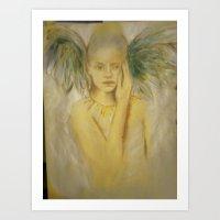 angel freed Art Print