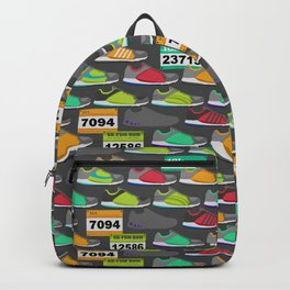 Running Shoes and Race Bibs Backpack