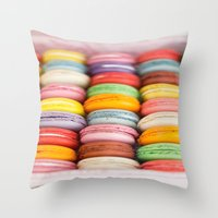 macaroon Throw Pillows featuring Numerous Macaroon  by Asano Kitamura