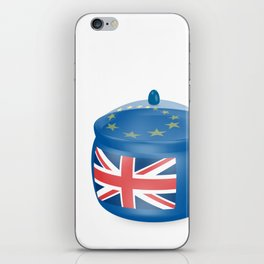 Flag of the Great Britain. Bowl with a translucent cover. The symbol of the European Union. iPhone Skin