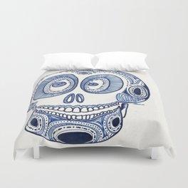 Blue Skull Duvet Cover