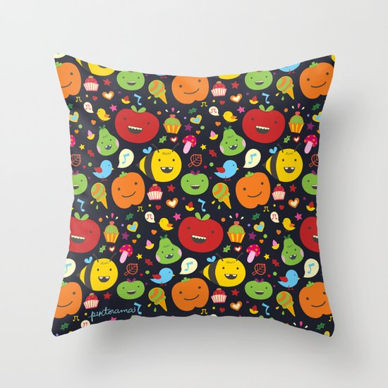 Fruticas pattern Throw Pillow