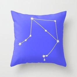 Libra (White & Azure Sign) Throw Pillow
