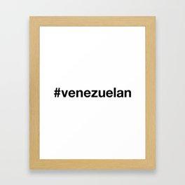 VENEZUELA Framed Art Print