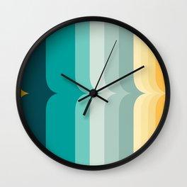 Vintage Sunset Rainbow Wall Clock
