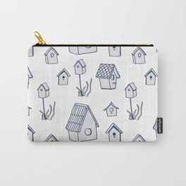 Bird House Drawings, Pattern Carry-All Pouch