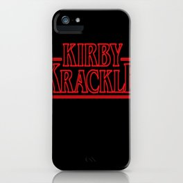 Kirby Krackle - Upside Down Logo iPhone Case