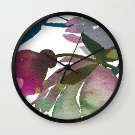 October Rain Wall Clock