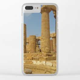 Sicilian Ruins Clear iPhone Case