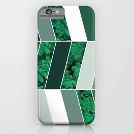 Green Herringbone #society6 #green #succulent iPhone Case