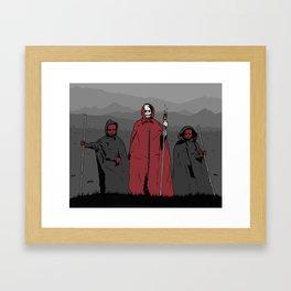 La Muerte Roja Framed Art Print