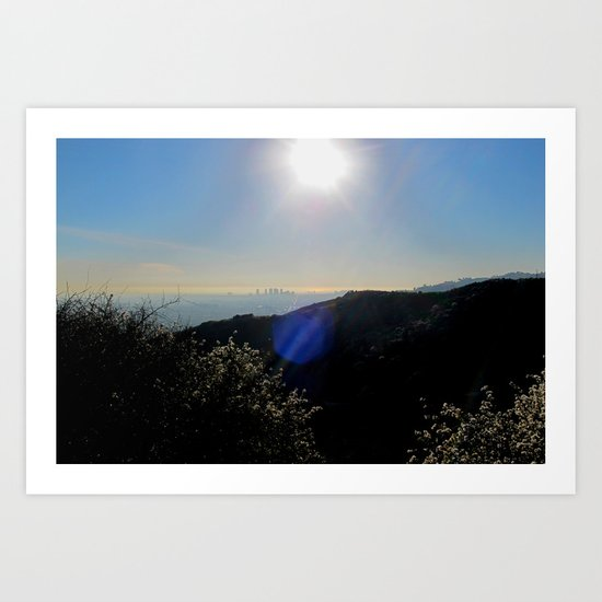 Los Angeles view from Runyon Canyon Art Print