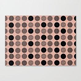 old pink circles Canvas Print