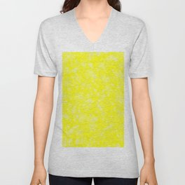 Yellow Abstract Unisex V-Neck