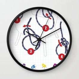 Noeud de chaise Wall Clock