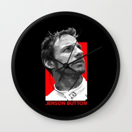 Formula One - Jenson Button Wall Clock