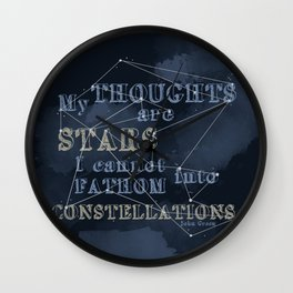 TFIOS - My Thoughts Are Stars Wall Clock