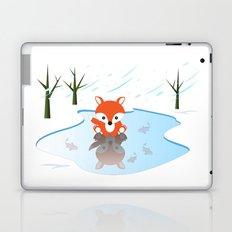 Little Fox On Ice Laptop & iPad Skin