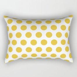 Mustard Yellow and White Polka Dots 771 Rectangular Pillow