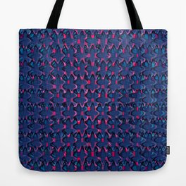 Blue and red retro pattern Tote Bag