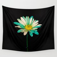 daisy Wall Tapestries featuring Daisy by Veronica Ventress