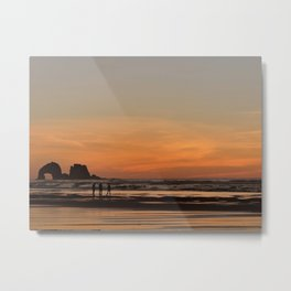 A Walk in the Waves Metal Print