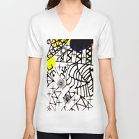 lama V-neck T-shirts featuring Nissi Lama by MIMI & CHIC DESIGNS