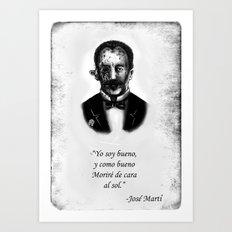 Zombie Marti Art Print
