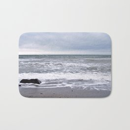 Cloudy Day on the Beach Bath Mat