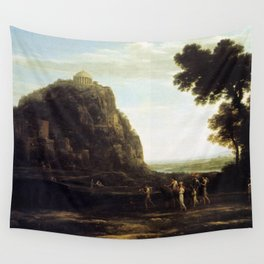 Claude Lorrain - View of Delphi with a Procession Wall Tapestry