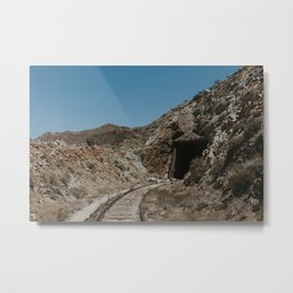 Mysterious Train Tunnel Metal Print