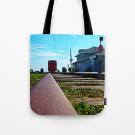 Down the Track and into the Station Tote Bag