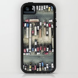 Aerial view of trucks iPhone Case
