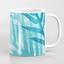 Tropical Nature Abstract - Aqua and Teal Coffee Mug