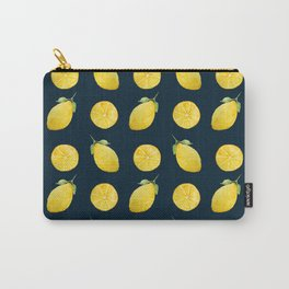Watercolor Lemon Pattern Carry-All Pouch