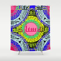 arabic Shower Curtains featuring Arabic colors  by MinaSparklina