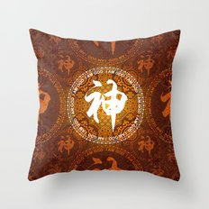 Mandala Style Pattern - God Throw Pillow