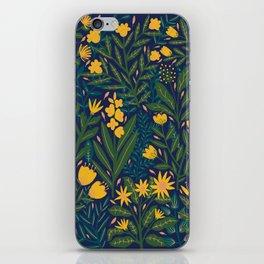 Golden flowers iPhone Skin