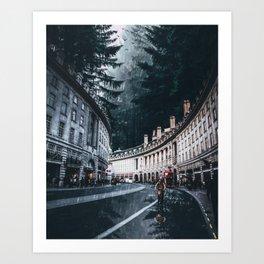 Cycling at Regent Street by GEN Z Art Print