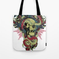 apocalypse now Tote Bags featuring Apocalypse now by Tshirt-Factory