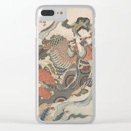 Mystical Bird (Karyōbinga) - Hokusai Clear iPhone Case
