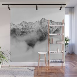 Peaks on the Mist Wall Mural