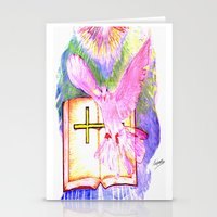 bible Stationery Cards featuring THE HOLY BIBLE by KEVIN CURTIS BARR'S ART OF FAMOUS FACES
