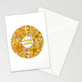 Aquarius in Petrykivka style (without artist's signature/date) Stationery Cards