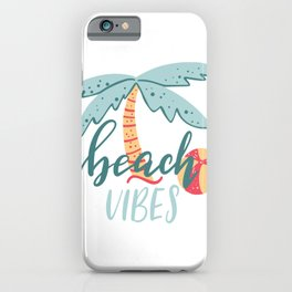 Beach Vibes Lettering iPhone Case