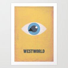 Westworld Alternative Minimalist Art Art Print