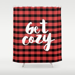 Let's get cozy with Flannel Shower Curtain