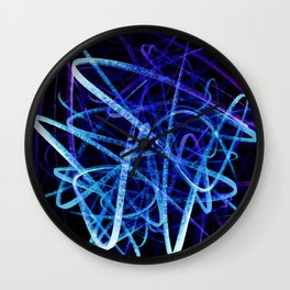Electric Blue Flow Wall Clock