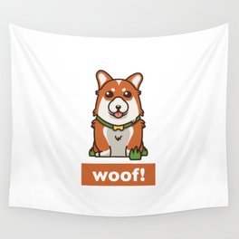 Cute Pembroke Cardigan Welsh Corgi Pet Dog Lover Wall Tapestry